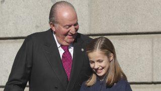 La Princesa Leonor y el Rey Juan Carlos / Gtres