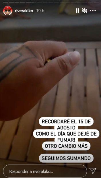 Así se ha despedido Kiko Rivera del tabaco / Instagram