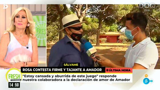 Rosa Benito ha visto las declaraciones de Amador Mohedano / Mediaset