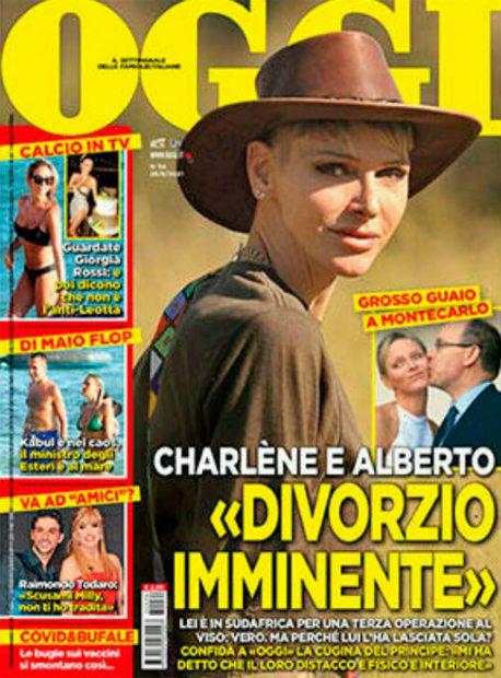 La revista Oggi publica una entrevista con la tía de Alberto de Mónaco donde apunta que se va a divorciar de Charlene pronto