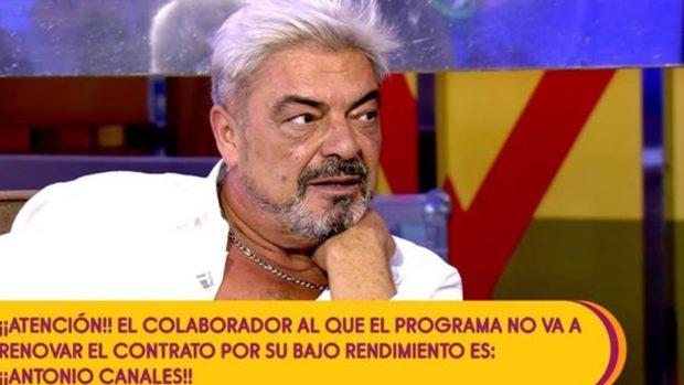 Antonio Canales fue despedido hace unos días de 'Sálvame'./Telecinco