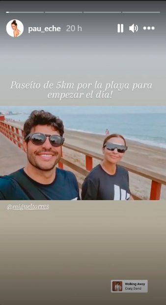Paula Echevarría y Miguel Torres han cogido como rutina dar un agradable paseo matutino por la mañana / Instagram: @pau_eche