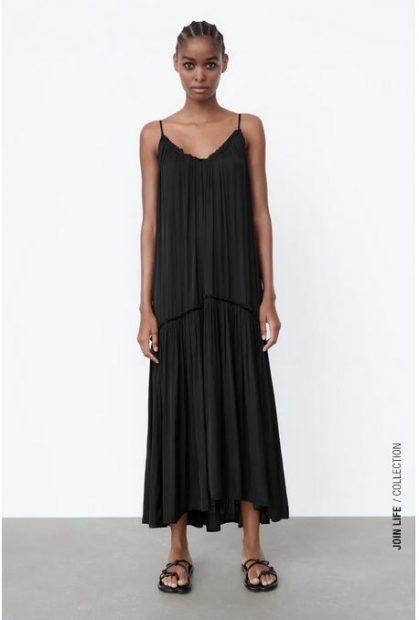El vestido satinado de Zara al más estilo Sara Carbonero para final de verano