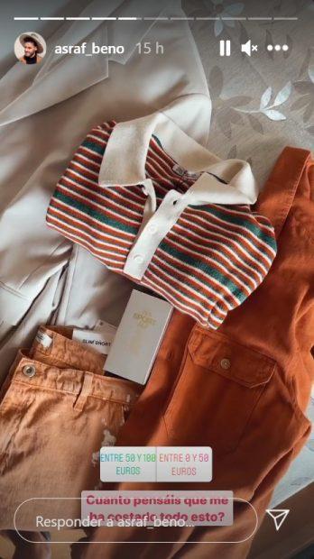 Asraf Beno ha comprado algunas cosas en las rebajas de agosto / Instagram: @asraf_beno