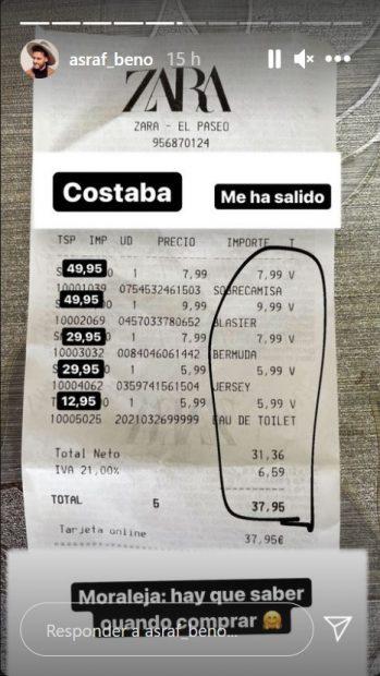 El novio de Chabelita se ha beneficiado de importantes descuentos que ha compartido con todos sus seguidores / Instagram: @asraf_beno