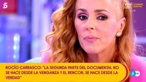 Rocío Carrasco ha dado detalles sobre su nueva docuserie / Mediaset