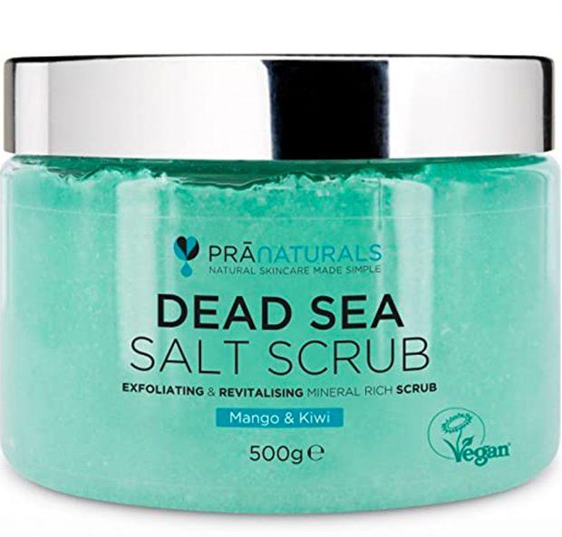 Exfoliante corporal de sal del Mar Muerto de PraNaturals/ PraNaturals