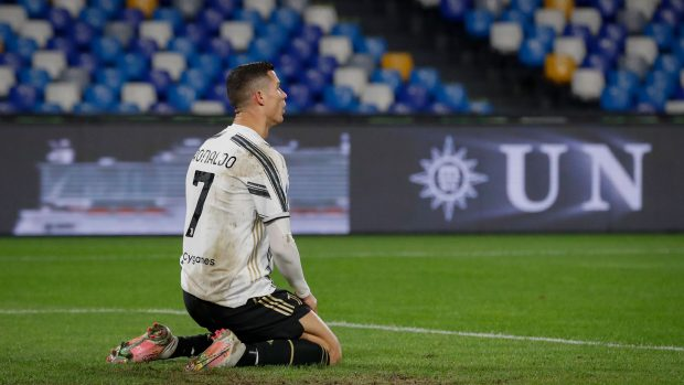 Cristiano Ronaldo se lamenta durante un partido con la Juventus / GTRES