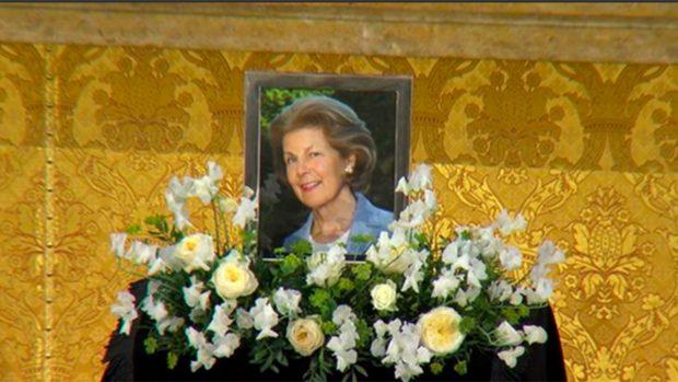 Una fotografía de Marie Liechtenstein ha estado presente en el entierro de Estado./Volksblatt.it