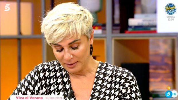 La pasada semana se derrumbó Ana María Aldón en 'Viva la vida'./Telecinco