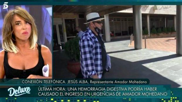 Jesús Alba ha llamado a 'Viernes Deluxe' para contar cómo se encuentra Amador Mohedano./Telecinco