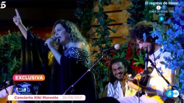 Kiki Morente en su último concierto junto a Estrella Morente./'Viva la vida'