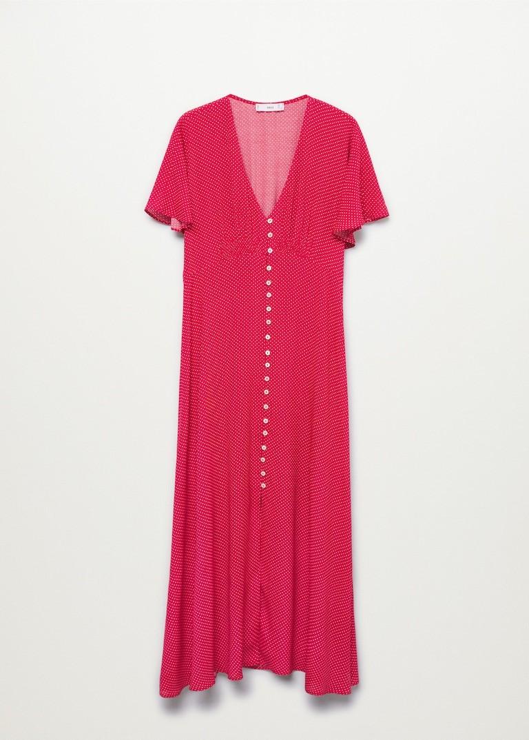 Paula Echevarría triunfa con el vestido rojo de Mango que vas a llevar este otoño con botas
