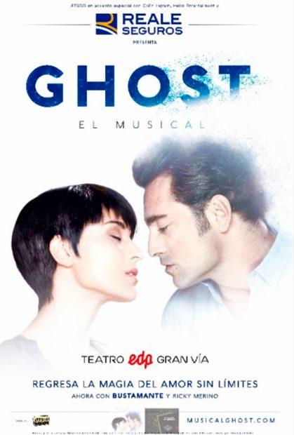 Cartel del Músical Ghost en el que actúa David Bustamante