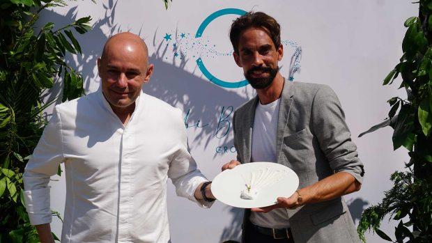 El chef cuatro estrellas Michelin Nazario Cano, del prestigioso restaurante Odiseo, y el diseñador de alta moda Eduardo Andés / Coolhunting Madrid Comunicación
