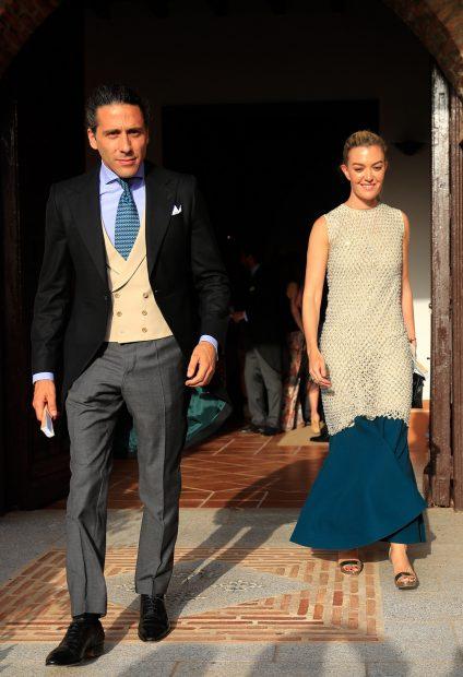 Marta Ortega y Carlos Torretta en la boda de Felipe Cortina y Amelia Millán este verano./Gtres