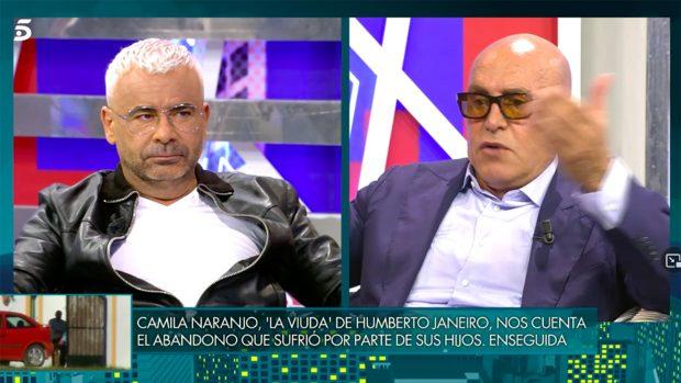 Jorge Javier Vázquez y Kiko Matamoros en el 'Deluxe'./Telecinco