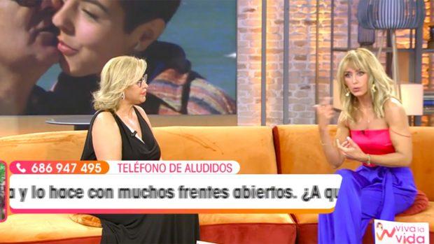 Raquel Mosquera y Emma García en 'Viva la Vida'./Telecinco