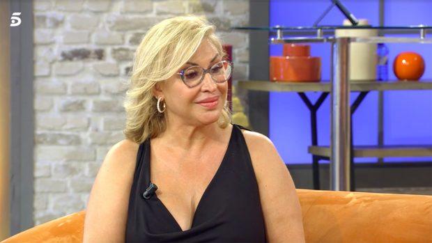 Raquel Mosquera reaparece en televisión tras su último ingreso hospitalario./Telecinco