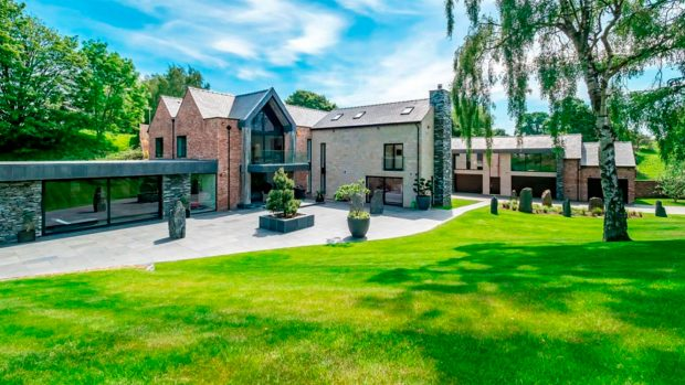 This is the house where Cristiano Ronaldo and Georgina Rodriguez will live in Manchester in the next two years. //JACKSON-STOPS.CO.UK