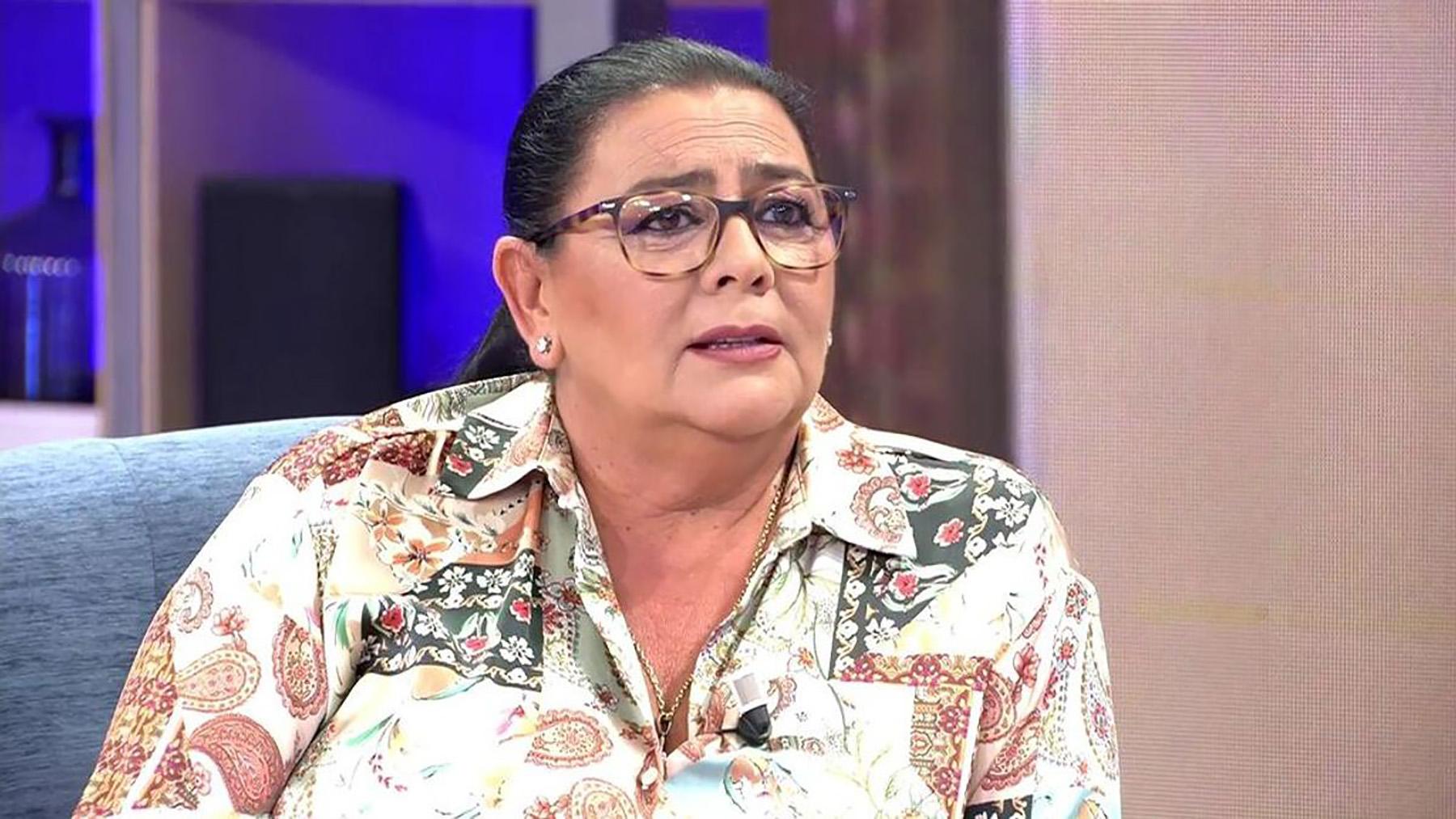 María del Monte durante su entrevista con Toñi Moreno / Mediaset