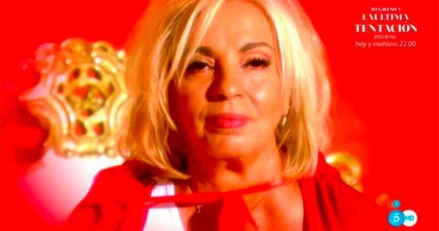 Carmen Borrego, durante su debut en 'Sálvame' / Telecinco
