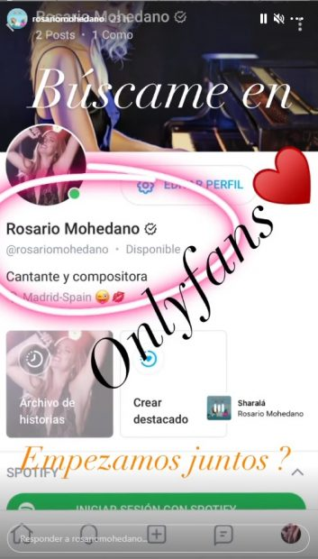 Chayo Mohedano se abre cuenta en Only Fans / Instagram: @rosariomohedano