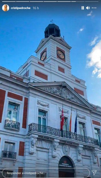 Cristina Pedroche ha visitado el edificio de la Real Casa de Correos / Instagram
