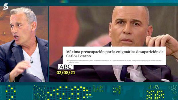 Carlos Lozano ha reaparecido en 'Sábado Deluxe'./Telecinco