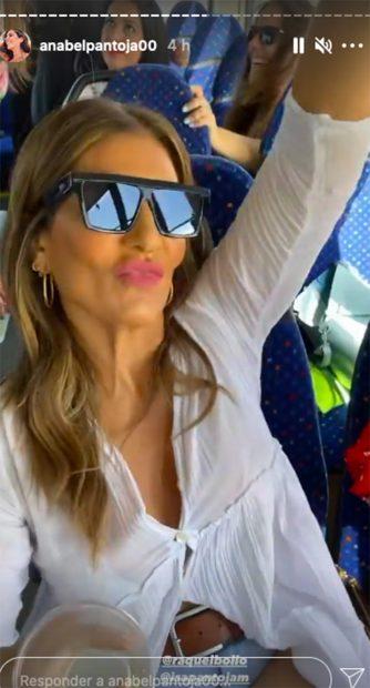 Raquel Bollo en la despedida de soltera de Anabel Pantoja./Instagram @anabelpantoja00