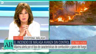 Ana Rosa Quintana, muy emocionada por el devastador incendido de Málaga / Telecinco