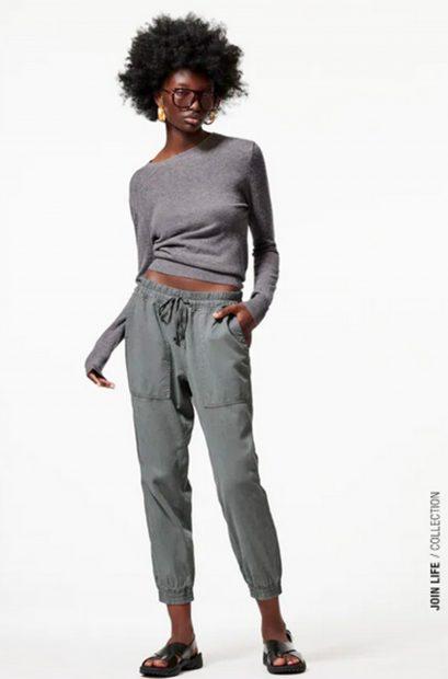 Pantalón 'The Weekend' de Zara en color gris./Zara