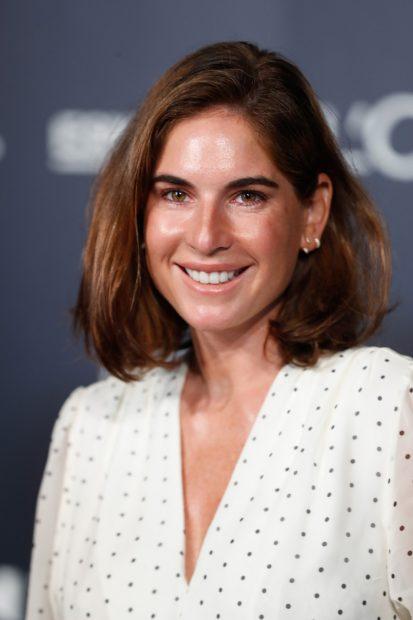 Lourdes Montas ha posado sonriente en el 'photocall' de la Mercedes-Benz Fashion Week de Madrid./Gtres