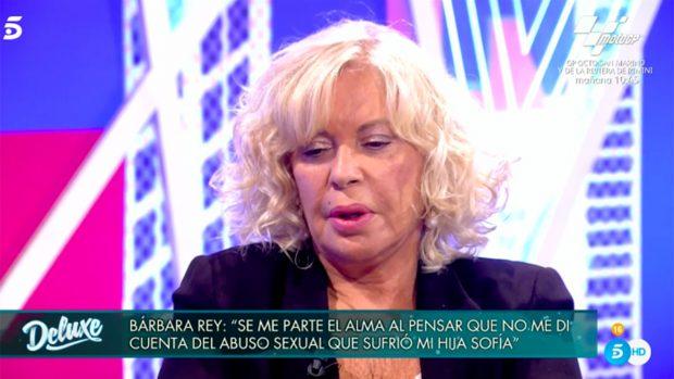 Bárbara Rey en 'Sábado Deluxe'./Telecinco