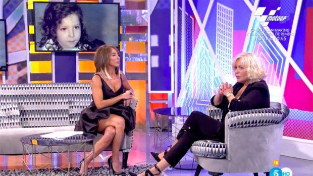 María Patiño y Bárbara Rey en 'Sábado Deluxe'./Telecinco