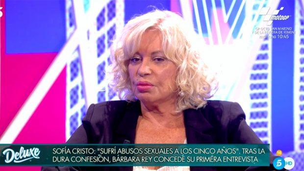 Bárbara Rey se ha sincerado este sábado en 'Sábado Deluxe'./Telecinco