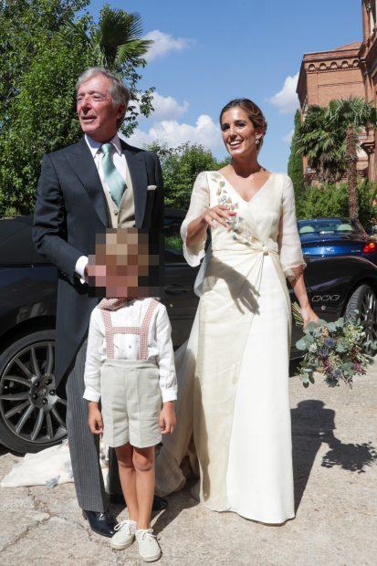 María Corsini ha l ucido un vestido nupcial de estilo romántico./Gtres