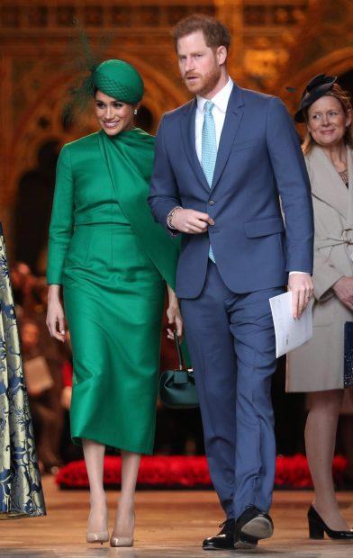 Meghan Markle y el príncipe Harry en uno de sus últimos actos oficiales mientras formaban parte de la Familia Real británica./Gtres