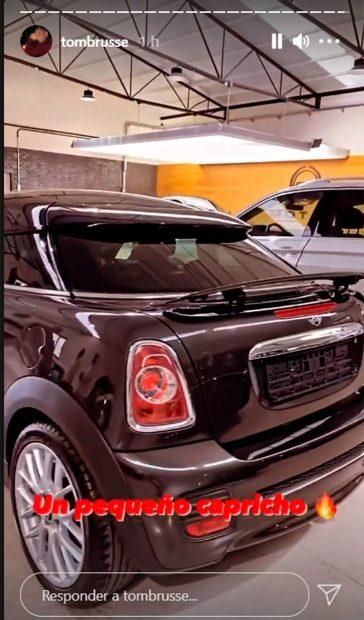 Justo antes de irse a Marrakech, Tom Brusse se ha dado este capricho, un coche de la marca Mini / Instagram