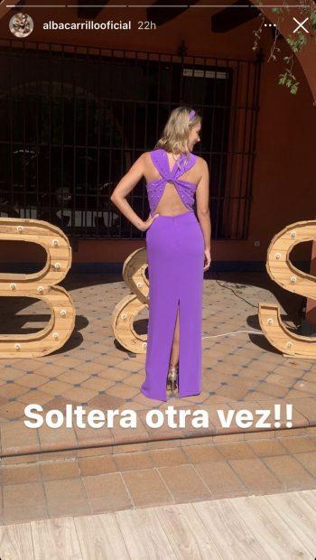 Alba Carrillo anuncia que está soltera./Instagram @albacarrillooficial