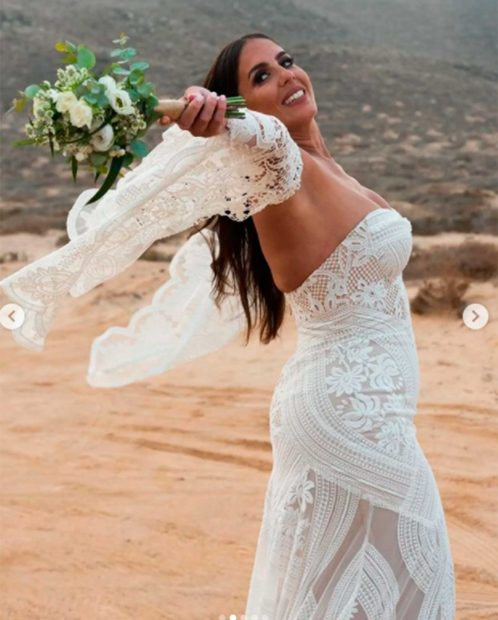 Anabel Pantoja, el día de su boda / Instagram